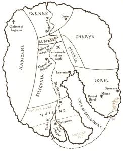 Finnikin - Skuldenore Map